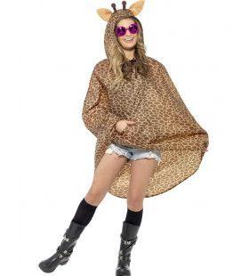 Giraffe Regen-Poncho Kostuum