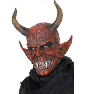 Volledig Duivel Masker Met Hoorns