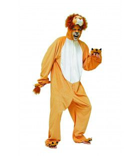Gevaarlijke Pluche Leeuw Man Kostuum