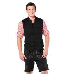 Bier Spetter Vest Deluxe Zwart Man Kostuum