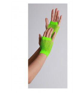 Vingerloze Handschoenen Kort Visnet Neon Groen