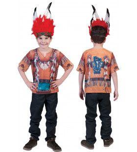 3d Shirt Indiaan Jongen