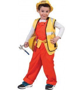 Oranje Kinder Werkmans Overall Oranje Jongen Kostuum