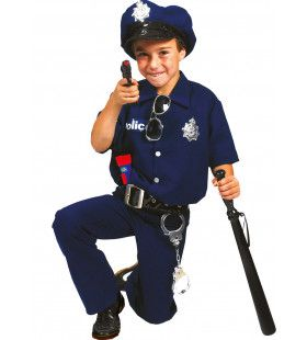 Amerikaanse Politie Jongen Kostuum