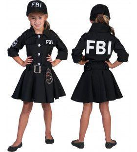 Fbi Arrest Meisje Kostuum