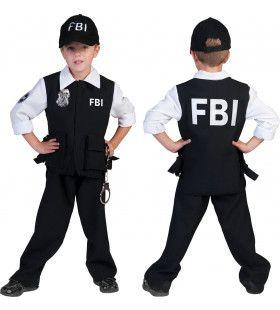 Fbi Arrest Jongen Kostuum