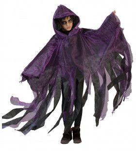 Paarse Spookachtige Cape Kostuum