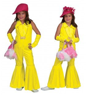 Neon Geel Jumpsuit Meisje Kostuum