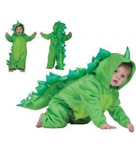 Groen Dinootje Gino Kind Kostuum