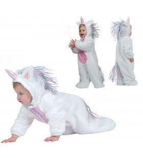 Lieve Witte Baby Eenhoorn Kostuum