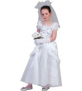 Mini Bruidje In Het Wit Meisje Kostuum