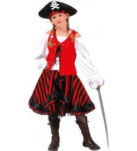 Piraat Stripey Jurk Meisje