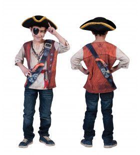 3d-Shirt Piraat Jongen