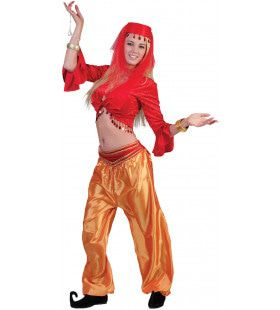 Jasmijn Topje Buikdanseres Rood Vrouw Kostuum