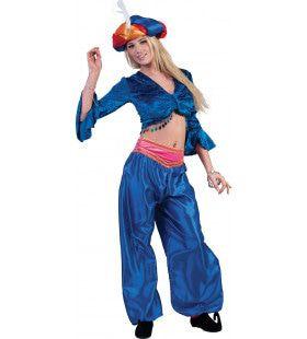 Jasmijn Topje Buikdanseres Blauw