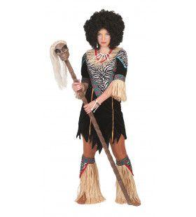 Inboorling Dame Smurfafa Vrouw Kostuum