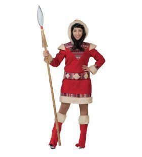 Eskimo Nanook Dame Vrouw Kostuum