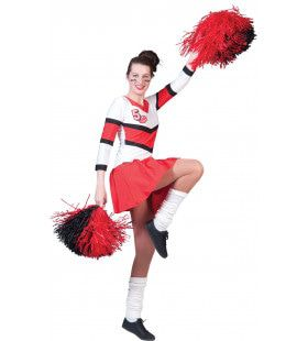 American Football Highschool Cheerleader Vrouw Kostuum