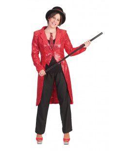Tailcoat Red Vrouw Kostuum