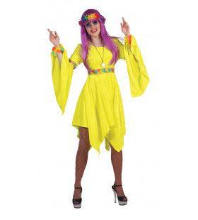 Neon Hippie Jurk Golden Girl Vrouw