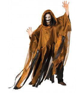Okergeel Spookachtige Cape Kostuum