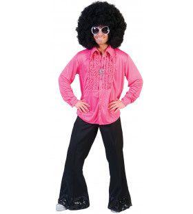 Zaterdag Disco Hemd Roze Man