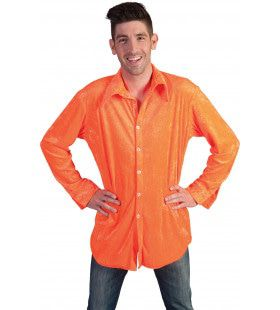 Neon Oranje Hemd Man
