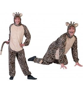 Savanna Giraffe Onesie Man Kostuum