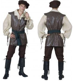 Middeleeuwse Boer Kostuum Man