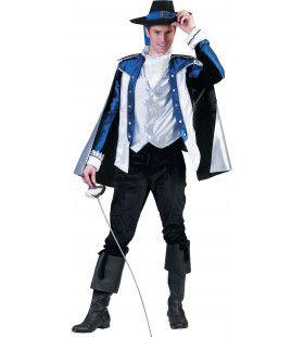 Musketier Mostadero Kostuum Man