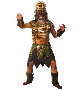 Afrikaanse Horror Zulu Man Kostuum
