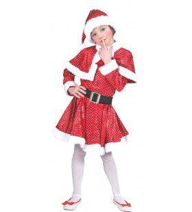 Glitter Kerstvrouw Jurk Meisje