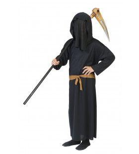 Enge Zwarte Dood Jongen Kostuum