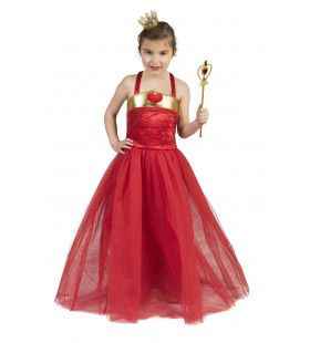 Rode Koningin Ambrosia Prinses Jurk Meisje