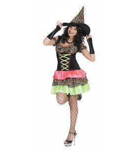 Kleurige Heks Antonella Vrouw Kostuum