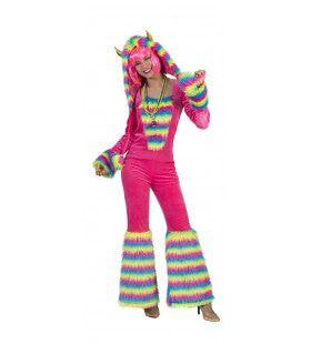 Monster Jumpsuit Roze Vrouw Kostuum