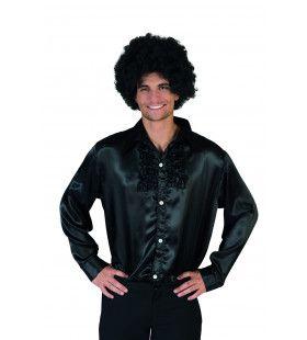 Zwart Ruche Hemd Man