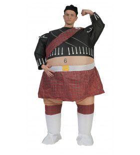 Dikke Highlander Man Kostuum