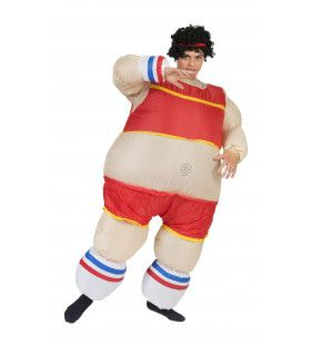 Dikke Atleet Man Kostuum