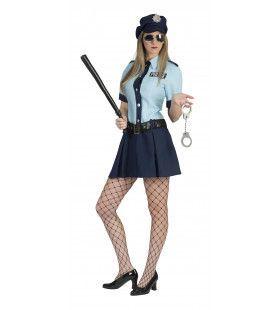 Verkeersagente Geena Vrouw Kostuum