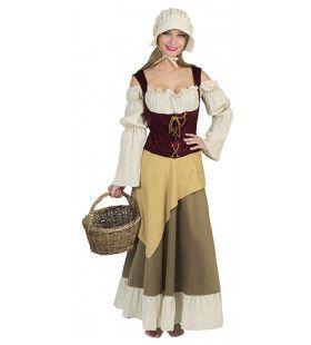 Saksische Boerendochter Vrouw Kostuum
