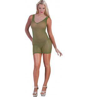 Spannende Visnet Body Leger Groen Vrouw Kostuum