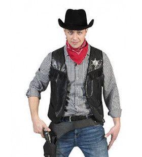 Cowboy Knallen Maar Vest Zwart