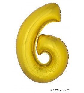 Ballon Nummer 6 Goud