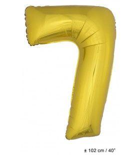 Ballon Nummer 7 Goud