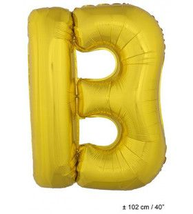 Ballon Letter B Goud