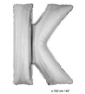 Ballon Letter K Zilver