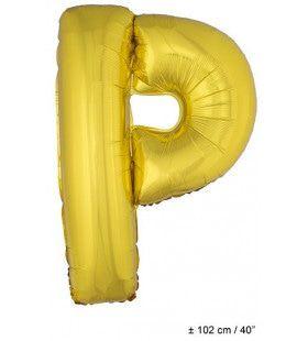 Ballon Letter P Goud