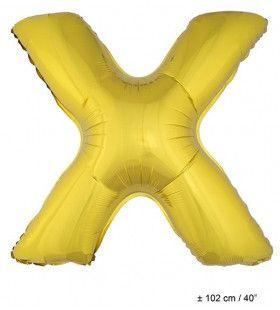 Ballon Letter X Goud