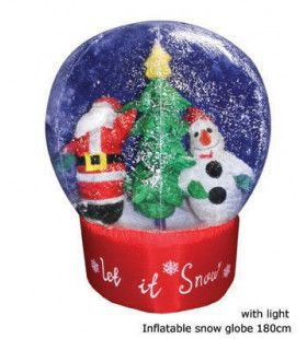 Christmas Globe With Snow 180cm